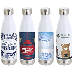 Keep 17 oz Vacuum Insulated Stainless Steel Bottle with Winter Stock Art